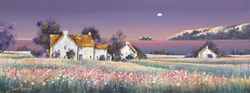 Moonlight Calm by John Mckinstry - Original Painting on Box Canvas sized 32x12 inches. Available from Whitewall Galleries